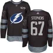 Cheap Adidas Lightning #67 Mitchell Stephens Black 1917-2017 100th Anniversary Stitched NHL Jersey