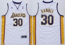 Wholesale Cheap Los Angeles Lakers #30 Julius Randle Revolution 30 Swingman White Jersey