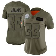 Wholesale Cheap Nike Seahawks #33 Jamal Adams Camo Women's Stitched NFL Limited 2019 Salute To Service Jersey