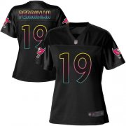 Wholesale Cheap Nike Buccaneers #19 Breshad Perriman Black Women's NFL Fashion Game Jersey