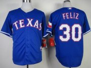 Wholesale Rangers #30 Naftali Feliz Stitched Baseball Blue Cool Base Jersey
