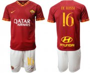 Wholesale Cheap Roma #16 De Rossi Red Home Soccer Club Jersey