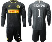 Wholesale Cheap Inter Milan #1 Handanovic Third Long Sleeves Soccer Club Jersey