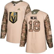 Wholesale Cheap Adidas Golden Knights #18 James Neal Camo Authentic 2017 Veterans Day Stitched Youth NHL Jersey