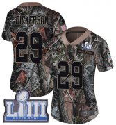 Wholesale Cheap Nike Rams #29 Eric Dickerson Camo Super Bowl LIII Bound Women's Stitched NFL Limited Rush Realtree Jersey