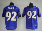 Wholesale Cheap Ravens #92 Haloti Ngata Purple Stitched NFL Jersey