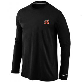 Wholesale Cheap Nike Cincinnati Bengals Sideline Legend Authentic Logo Long Sleeve T-Shirt Black