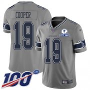 Wholesale Cheap Nike Cowboys #19 Amari Cooper Gray Men's Stitched With Established In 1960 Patch NFL Limited Inverted Legend 100th Season Jersey