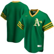 Wholesale Cheap Oakland Athletics Nike Road Cooperstown Collection Team MLB Jersey Kelly Green