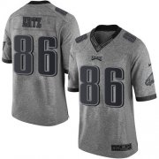 Wholesale Cheap Nike Eagles #86 Zach Ertz Gray Men's Stitched NFL Limited Gridiron Gray Jersey