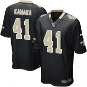 Wholesale Cheap Nike Saints #41 Alvin Kamara Black Team Color Youth Stitched NFL Elite Jersey