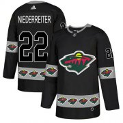 Wholesale Cheap Adidas Wild #22 Nino Niederreiter Black Authentic Team Logo Fashion Stitched NHL Jersey