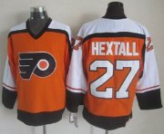 Wholesale Cheap Flyers #27 Ron Hextall Orange CCM Throwback Stitched NHL Jersey