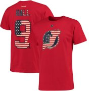 Wholesale Cheap New Jersey Devils #9 Taylor Hall Reebok Primary Flag Name & Number T-Shirt Red
