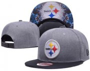 Wholesale Cheap NFL Pittsburgh Steelers Team Logo Snapback Adjustable Hat 11