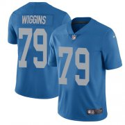 Wholesale Cheap Nike Lions #79 Kenny Wiggins Blue Throwback Youth Stitched NFL Vapor Untouchable Limited Jersey