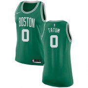 Wholesale Cheap Nike Boston Celtics #0 Jayson Tatum Green Women's NBA Swingman Icon Edition Jersey