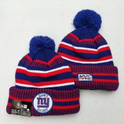 Wholesale Cheap New York Giants Team Logo Red 100th Season Pom Knit Hat YD