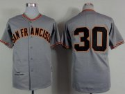 Wholesale Cheap Mitchell And Ness 1962 Giants #30 Orlando Cepeda Grey Stitched MLB Jersey