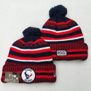 Wholesale Cheap Texans Team Logo Red 100th Season Pom Knit Hat YD