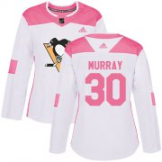 Wholesale Cheap Adidas Penguins #30 Matt Murray White/Pink Authentic Fashion Women's Stitched NHL Jersey
