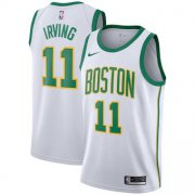 Wholesale Cheap Men's Boston Celtics #11 Kyrie Irving Nike White 2018-19 Swingman Jersey - City Edition