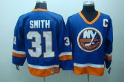 Wholesale Cheap Islanders #31 Billy Smith Stitched Baby Blue CCM Throwback NHL Jersey