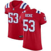 Wholesale Cheap Nike Patriots #53 Josh Uche Red Alternate Men's Stitched NFL New Elite Jersey
