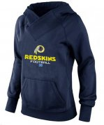 Wholesale Cheap Women's Washington Redskins Big & Tall Critical Victory Pullover Hoodie Navy Blue
