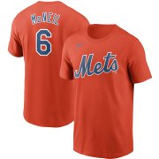 Wholesale Cheap New York Mets #6 Jeff McNeil Nike Name & Number T-Shirt Orange