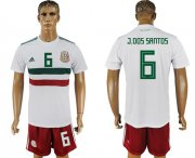 Wholesale Cheap Mexico #6 J.Dos Santos Away Soccer Country Jersey