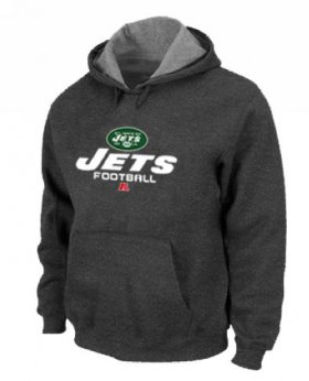 Wholesale Cheap New York Jets Critical Victory Pullover Hoodie Dark Grey