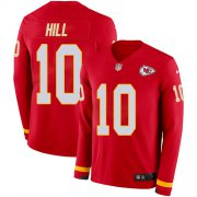 Wholesale Cheap Nike Chiefs #10 Tyreek Hill Red Team Color Youth Stitched NFL Limited Therma Long Sleeve Jersey