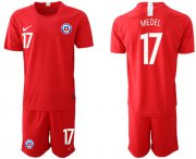 Wholesale Cheap Chile #17 Medel Home Soccer Country Jersey