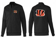Wholesale Cheap NFL Cincinnati Bengals Team Logo Jacket Black_1