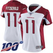 Wholesale Cheap Nike Cardinals #11 Larry Fitzgerald White Women's Stitched NFL 100th Season Vapor Limited Jersey