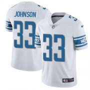 Wholesale Cheap Nike Lions #33 Kerryon Johnson White Youth Stitched NFL Vapor Untouchable Limited Jersey