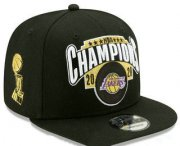 Wholesale Cheap Men's Los Angeles Lakers New Black 2020 NBA Finals Champions Snapback Hat