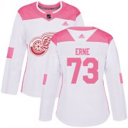Wholesale Cheap Adidas Red Wings #73 Adam Erne White/Pink Authentic Fashion Women's Stitched NHL Jersey