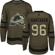 Wholesale Cheap Adidas Avalanche #96 Mikko Rantanen Green Salute to Service Stitched Youth NHL Jersey