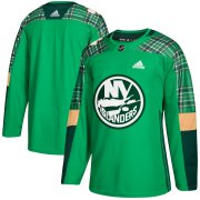 Wholesale Cheap Adidas Islanders Blank adidas Green St. Patrick's Day Authentic Practice Stitched NHL Jersey