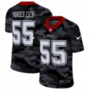 Cheap Dallas Cowboys #55 Leighton Vander Esch Men's Nike 2020 Black CAMO Vapor Untouchable Limited Stitched NFL Jersey
