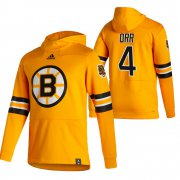 Wholesale Cheap Boston Bruins #4 Bobby Orr Adidas Reverse Retro Pullover Hoodie Gold