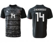 Wholesale Cheap Mexico #14 J.Hernandez Black Soccer Country Jersey