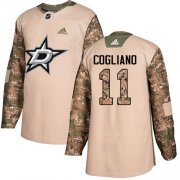 Cheap Adidas Stars #11 Andrew Cogliano Camo Authentic 2017 Veterans Day Youth Stitched NHL Jersey