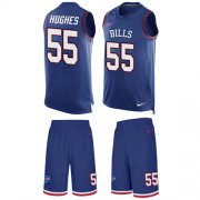 Wholesale Cheap Nike Bills #55 Jerry Hughes Royal Blue Team Color Men's Stitched NFL Limited Tank Top Suit Jersey