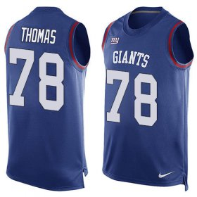 Wholesale Cheap Nike Giants #78 Andrew Thomas Royal Blue Team Color Men\'s Stitched NFL Limited Tank Top Jersey