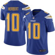 Wholesale Cheap Nike Chargers #10 Justin Herbert Electric Blue Men's Stitched NFL Limited Rush Jersey