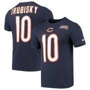 Wholesale Cheap Chicago Bears #10 Mitchell Trubisky Nike 2019 NFL 100th Season Player Pride Name & Number Performance T-Shirt Navy