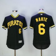 Wholesale Pirates #6 Starling Marte Black Flexbase Authentic Collection Cooperstown Stitched Baseball Jersey